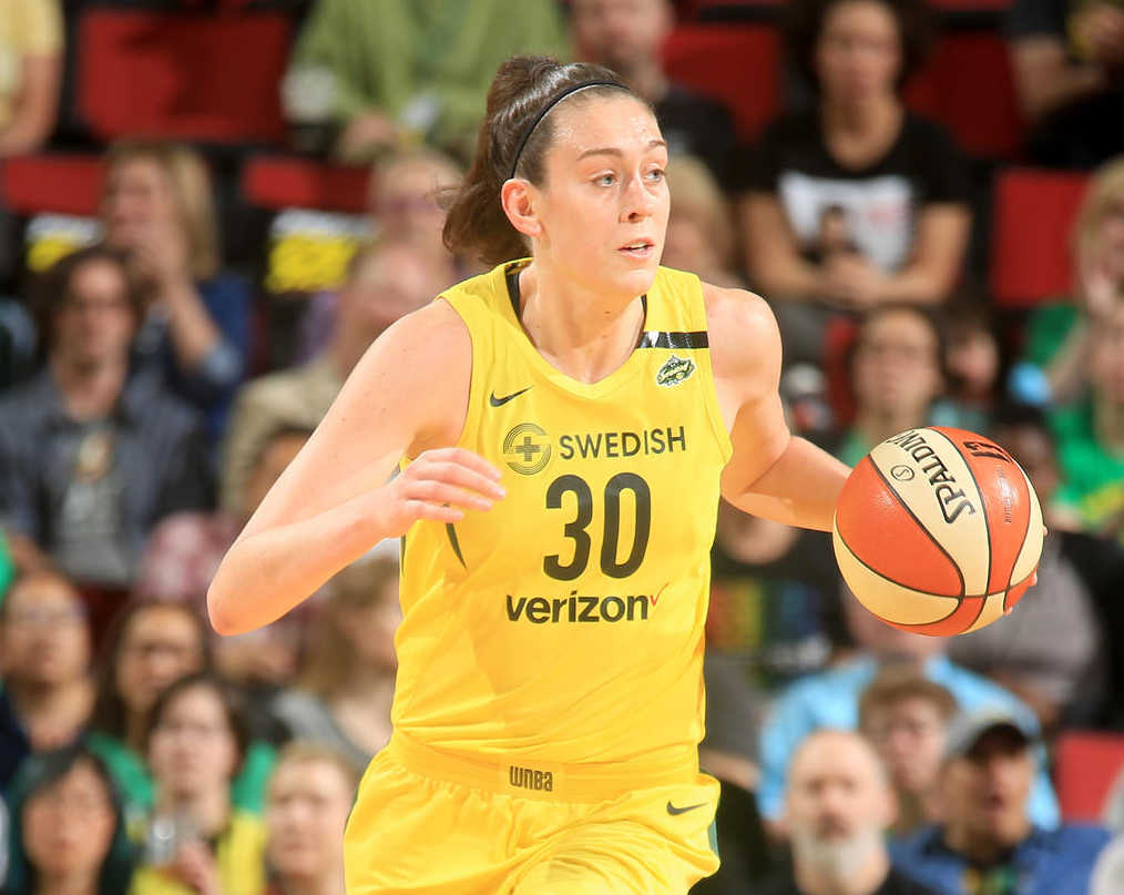 Breanna Stewart with basketball
